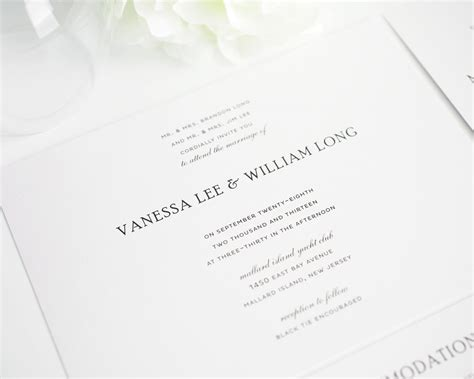 Wedding Invitations Classic by Traditional Wedding Invitations In Black And White