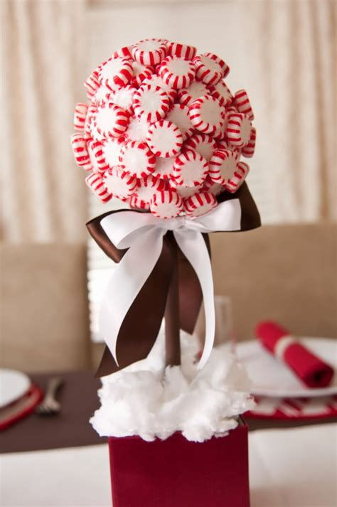 how to do a christmas candy sunday centerpiece decor decorating with peppermint