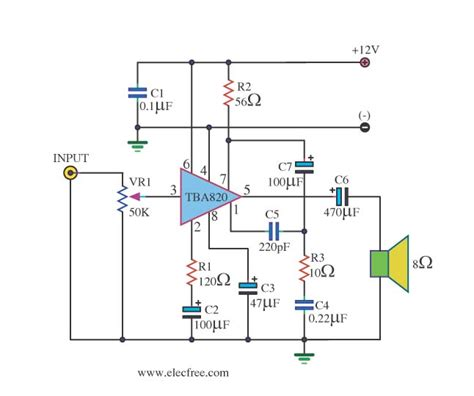 Power Lifier Audio Seven miniature power lifier circuit schematic miniature