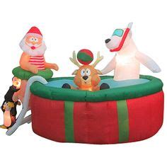 inflatable santa in boat 1000 images about inflatables on carousels snow globes and