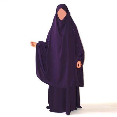 jilbab 2 pi 232 ces marwa robe sans manche et khimar al