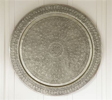 decorative metal disc eclectic home decor by pottery - Decorative Metal Disc Wall