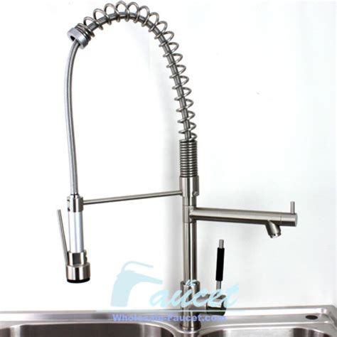 faucet kitchen brushed nickel pull out kitchen faucet contemporary