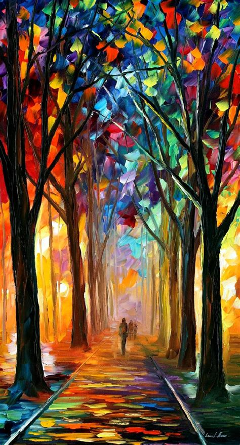 paint dream alley of the dream palette knife oil painting on canvas by leonid afremov size 36 quot x20 quot