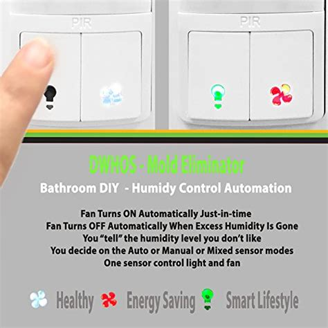 bathroom humidity level humidity control switch by enerlites 2 in 1 humidity