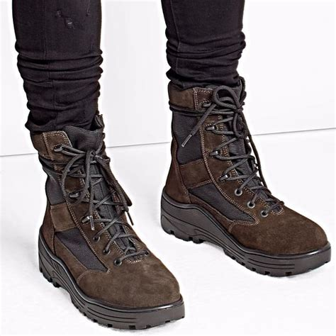 yeezy season 4 suede combat boots brown size 41 45