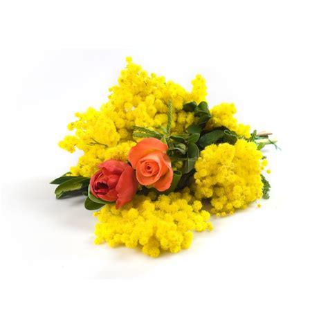 mazzo di fiori con mimose vendita e consegna fiori piante ed omaggi floreali
