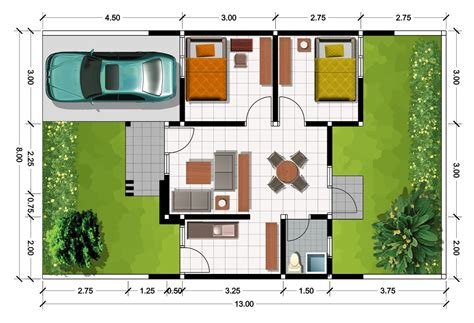 gambar denah rumah minimalis type 36 2016 sederhana lensarumah