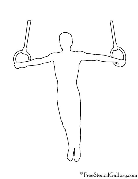 printable gymnastics stencils gymnast silhouette 04 stencil free stencil gallery