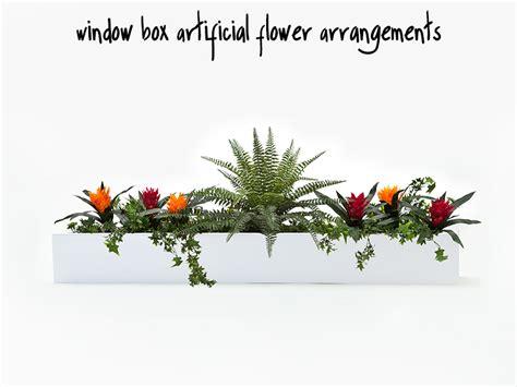 artificial flower arrangements  window boxes