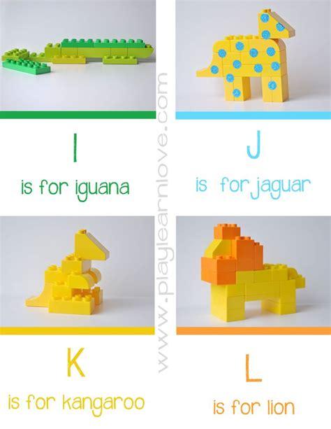 lego animal alphabet cards i l lego pinterest