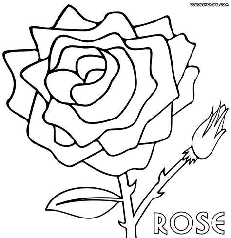 large rose coloring page big rose pages coloring pages