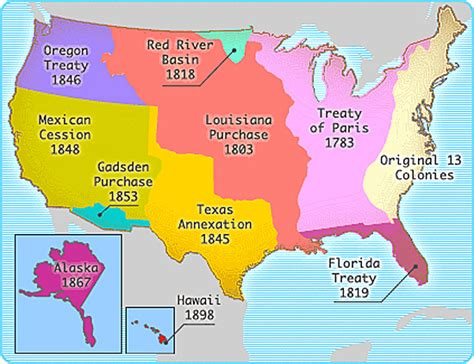 territorial acquisition map onis treaty 1819