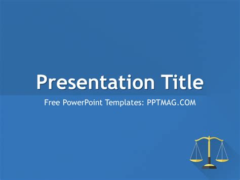 free flat law powerpoint template pptmag