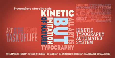 Kinetic Typography Automated System By Signs09 Videohive Kinetic Typography Adobe Premiere Template