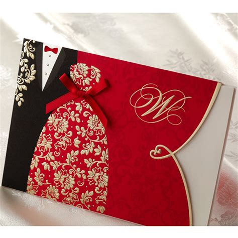 Classic Wedding Invitation Cards by 10 Pieces Lot New Classic And Groom Wedding