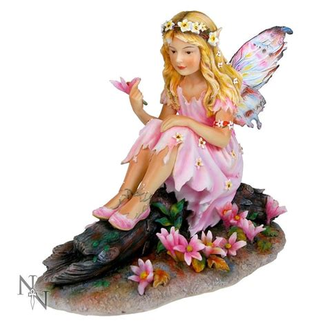 Whispers Figurine By Christine Haworth Collectible Item christine haworth designer uk statue secret dell flower