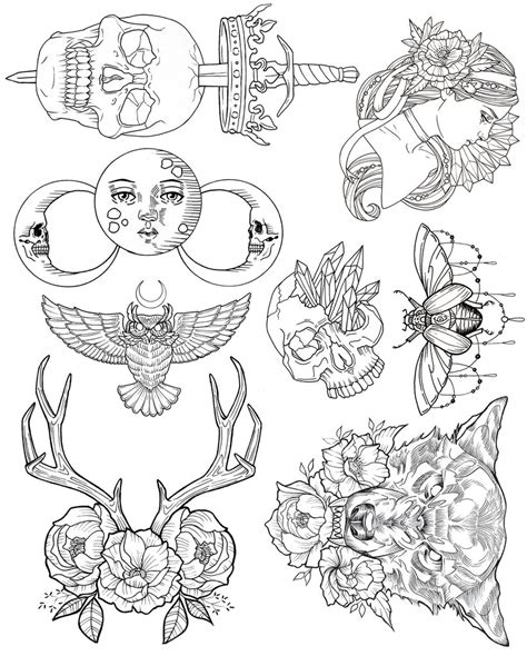 tattoo flash line art wendy ortiz tattoo flash first edition wendy ortiz art