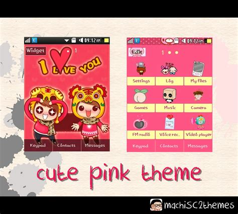 pink theme download for mobile sweetkawaiimachi cute pink samsung corby 2 theme