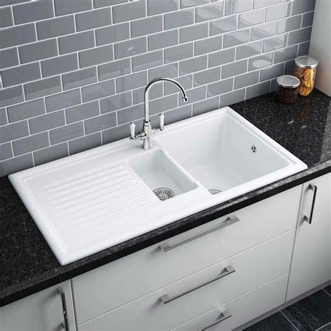 reginox white ceramic  bowl kitchen sink  victorian