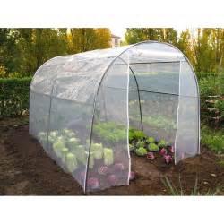 serre tunnel pour jardin l 200 x p 300 x h 170 cm leroy