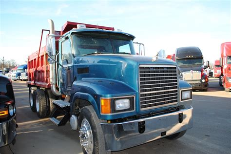 mack pinnacle chu dump trucks  sale  trucks  buysellsearch