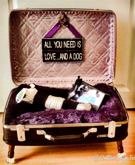 suitcase dog bed repurposed suitcases make a great dog bed my repurposed