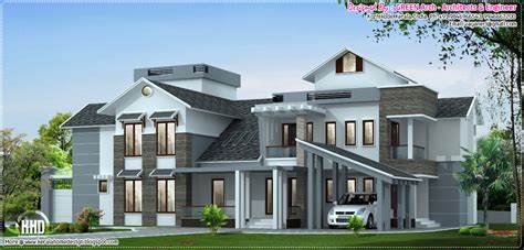 Luxurious House Plans by January 2013 Kerala Home Design And Floor Plans