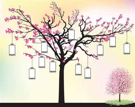 bunga rc vector walpaper pohon sakura