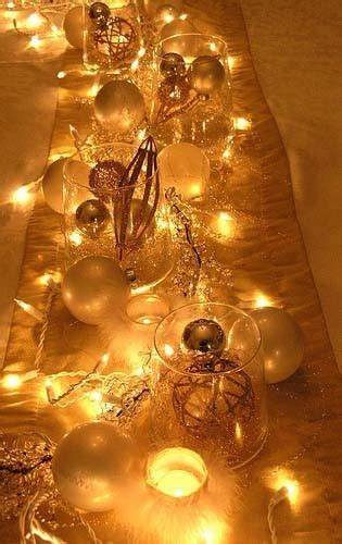 lights a glow christmas table centerpieces pinterest