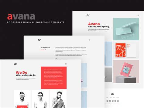 Avana Minimal Portfolio Template Build With Bootstrap Designstub Portfolio Templates Free