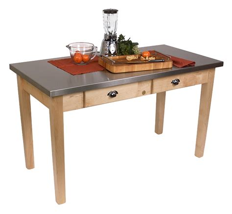 john boos cucina milano stainless steel top table