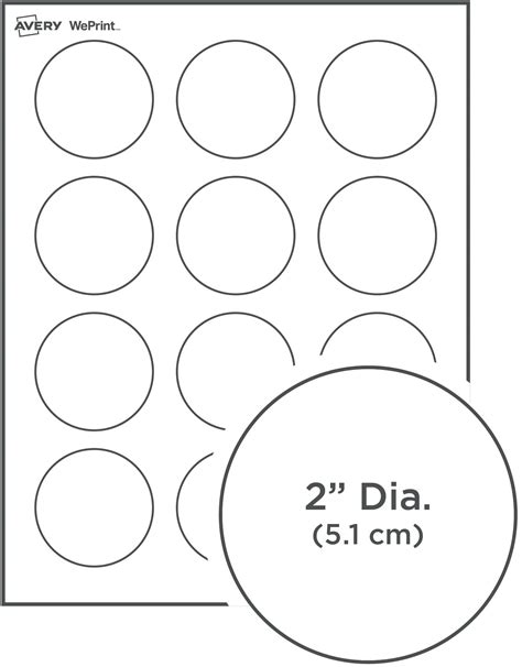 Round Labels Avery 2 Inch Circle Label Template