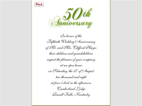 Wedding Anniversary Invitation Templates wedding anniversary invitation template sle templates