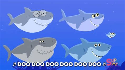 baby shark super simple songs baby shark swimming gif by super simple find share on