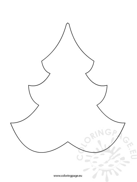 how to shape a christmas tree tree shape coloring page