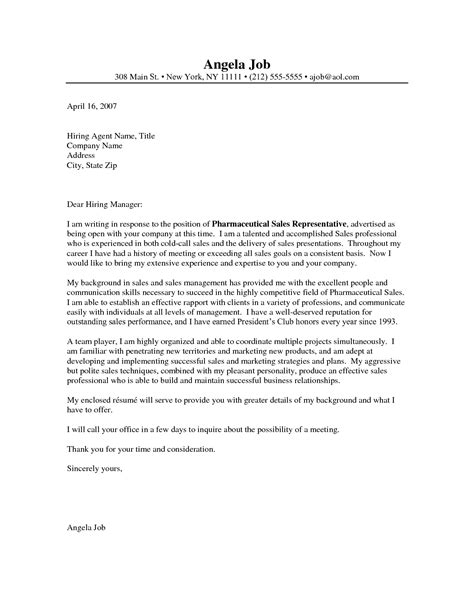 marketing cover letter sles sle cover letter for sales and marketing