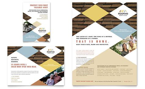 Roofing Contractor Flyer Ad Template Design Roofing Flyer Templates