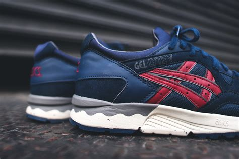 Asics Gel Lyte V Burgundy Sole Gum asics gel lyte v premium navy burgundy the sole supplier