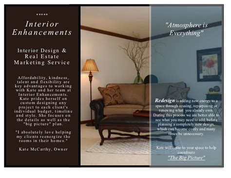 interior enhancements inc design brochure