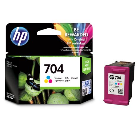 Cartridge Tinta Original Hp 704 Color Cn693aa hp tri color ink cartridge 704 cn693aa original distributor tinta printer original