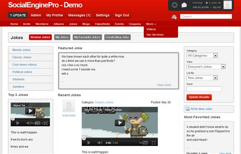 netlog template red 4 2 0 template for socialengine
