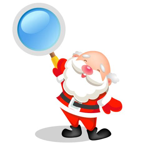 Santa Search Santa Search Icon Santa Iconset Mid Nights