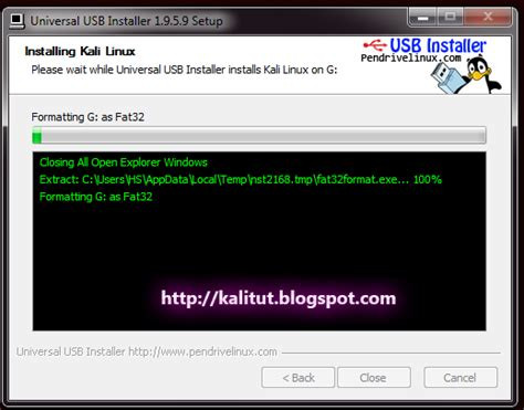 kali linux usb boot tutorial install kali linux on usb kalitut tutorial