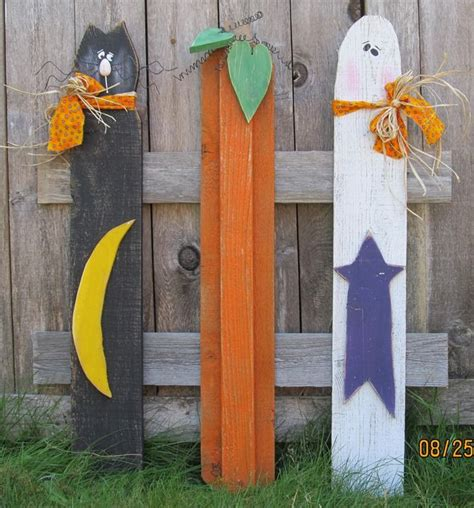 picket fence craft projects yard stake trio wood crafts