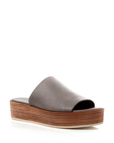 slide in sandals vince platform slide sandals saskia in brown truffle