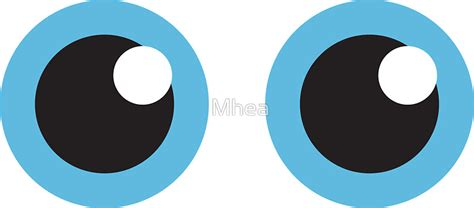 Red White And Blue Home Decor by Quot Two Cartoon Eyes With Blue Iris Stickers Quot Stickers By
