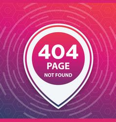 404 page not found template trendy vector images 160 000