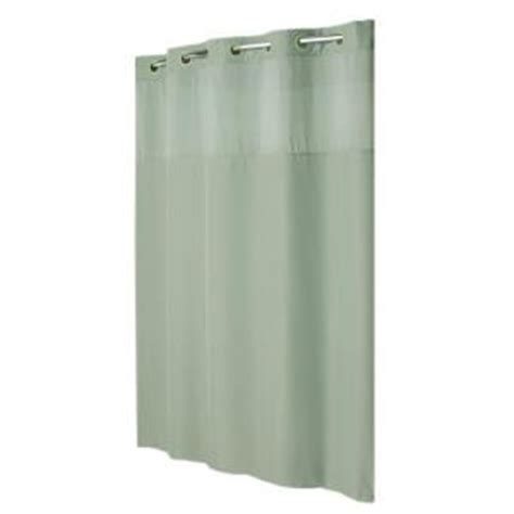hookless shower curtain mystery with liner in green