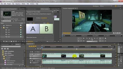 adobe premiere pro how to cut a clip adobe premiere pro 4 cutting video adding transitions